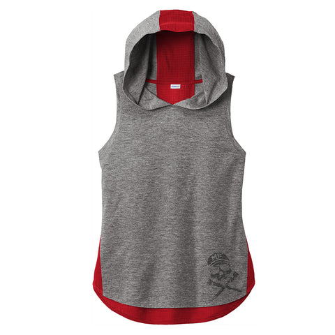 MF Sport-Tek ® Ladies PosiCharge ® Tri-Blend Wicking Draft Hoodie Tank