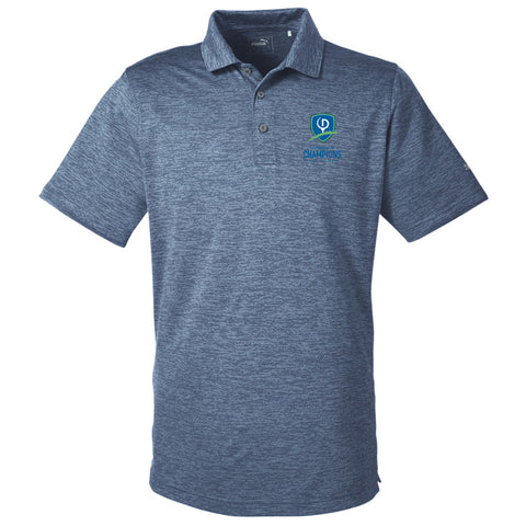 Puma Golf Men's Icon Heather Polo - TOC Logo (LC)