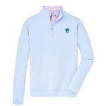 Peter Millar Perth Sugar Stripe 1/4 Zip Pullover - Shield Logo (LC)