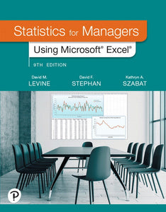 [PDF] [Ebook] Statistics for Managers Using Microsoft Excel 9th Edition by David M Levine