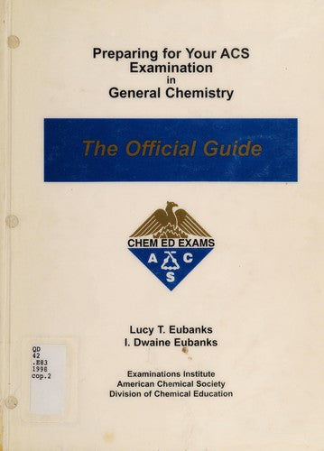 [PDF] [Ebook] Preparing for Your ACS Examination in General Chemistry by Lucy T. Eubanks