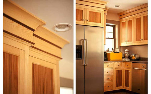 details of a kitchen cabinet install