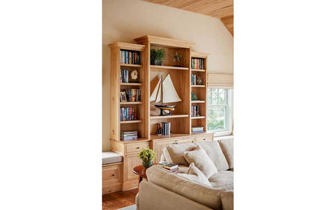 image, built in bookcase