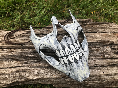 Bone Skull Mask - Leather