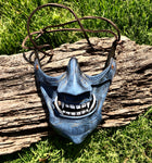 Blue Samurai Mask - Leather