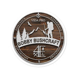 "Bobby Bushcraft ""Wood"" stickers"