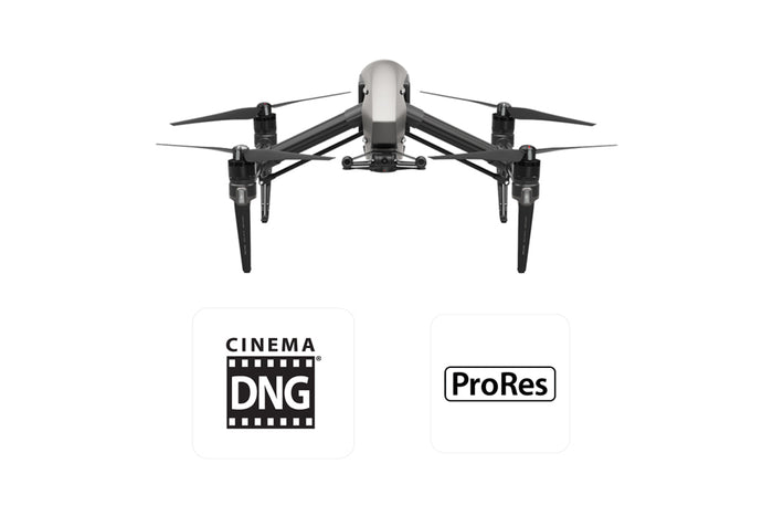 DJI Inspire 2 with CinemaDNG and Apple ProRes License