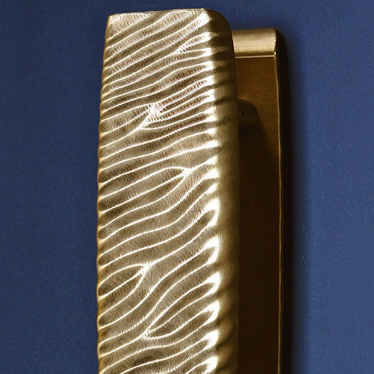 Crafted Wood and Metal Door Handle Vagues