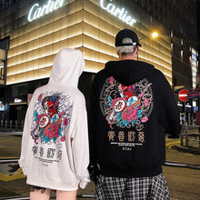 Load image into Gallery viewer, Fashion Harajuku Hoodie Sweatshirt Mens Casual Black Hip Hop Japan Print Hoodie Streetwear Clothing Top Coat Male Winter 2XL