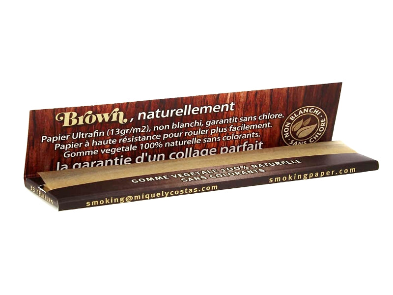 "Feuilles à rouler SMOKING King size slim ""Brown"""