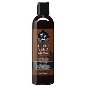 Hemp Seed Massage & Body Oil Unscented 8oz