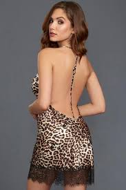 Leopard Print Chemise Small