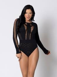 Long Sleeve Opaque Bodysuit Teddy