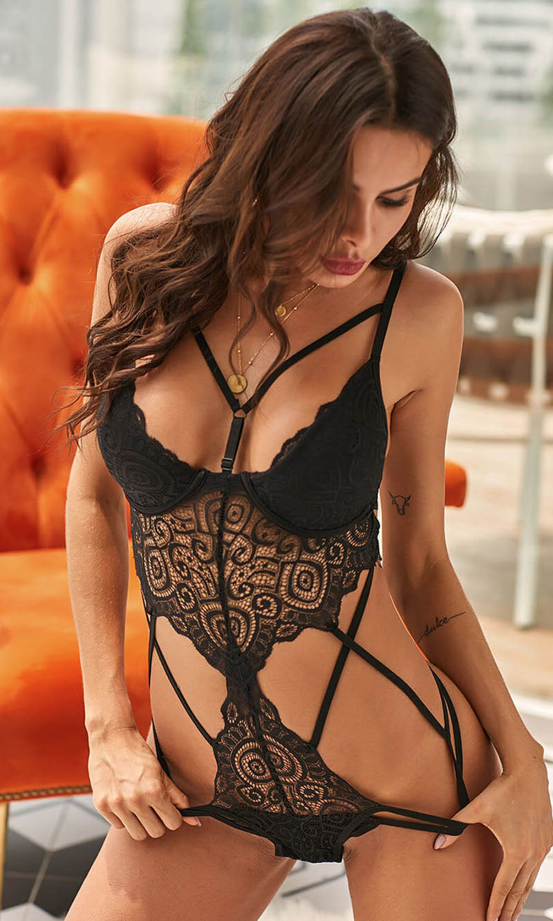 Open Wave Lingerie Set
