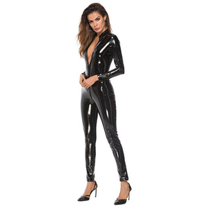 Shine Faux Leather Lingerie