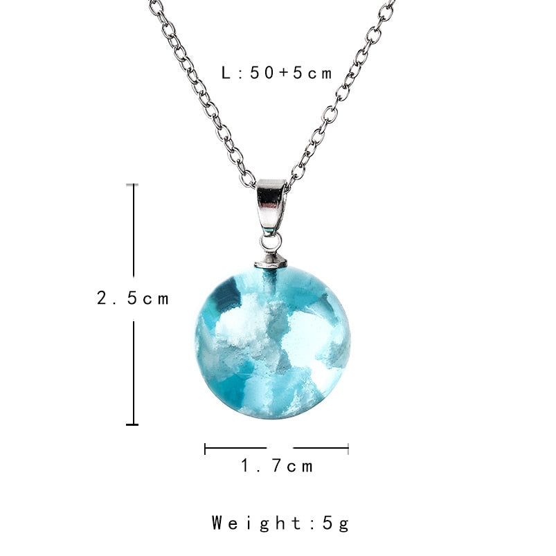 Blue Sky Ball Necklace