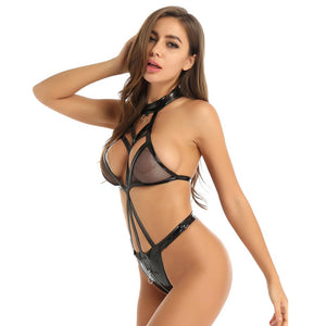 Seductive Leather Lingerie