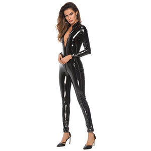 Latex Bodystockings Lingerie Double Zipper