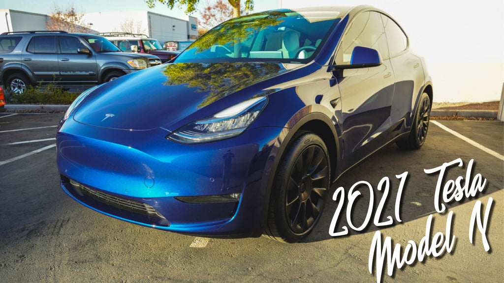 2021 Tesla Model Y Paint Correction, Paint Protection Film, Ceramic Coating, and Ceramic Window Tint!!!