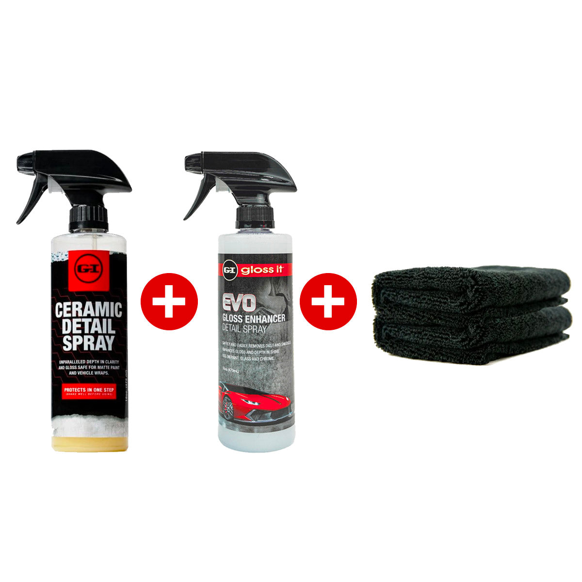 Ceramic Detail Spray + Gloss Enhancer + 2 Microfiber Towels