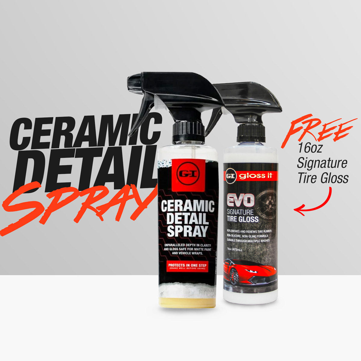Ceramic Detail Spray + FREE 1 Tire Gloss
