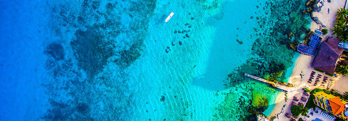 aerial imagery by my drones mexico cozumel blue ocean and hotel droneography