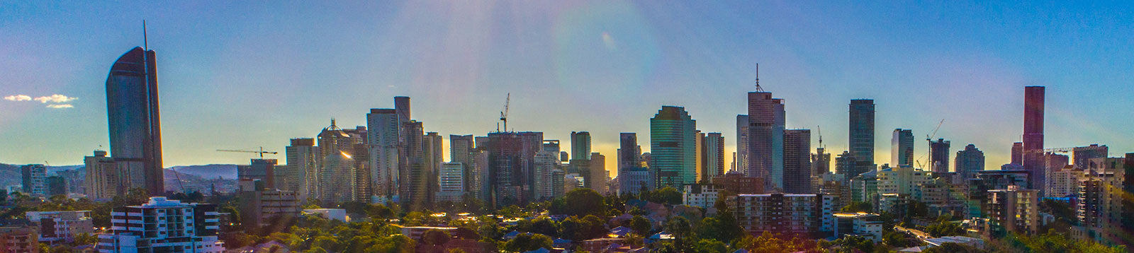 aerial imagery by my drones brisbane city skyline with high rise buildings droneography