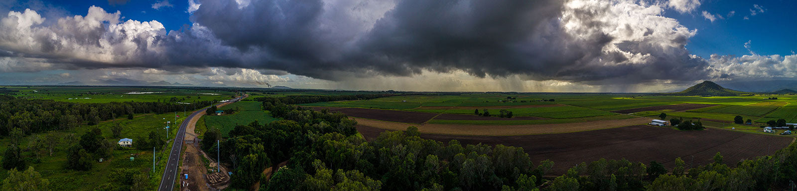 aerial imagery by my drones large summer storm clouds far north queensland droneography