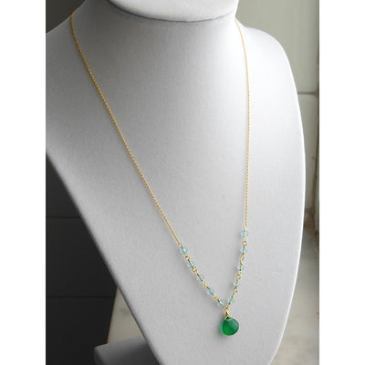 ELD Jewelry Designs Green & Blue Chain Necklace