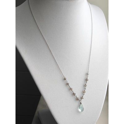ELD Jewelry Designs Blue & Grey Chain Necklace