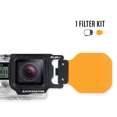 FLIP4 Single Filter Kit for GoPro Hero 4/3+/3