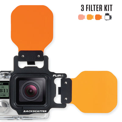 FLIP4 Three Filter Kit for GoPro Hero 4/3+/3