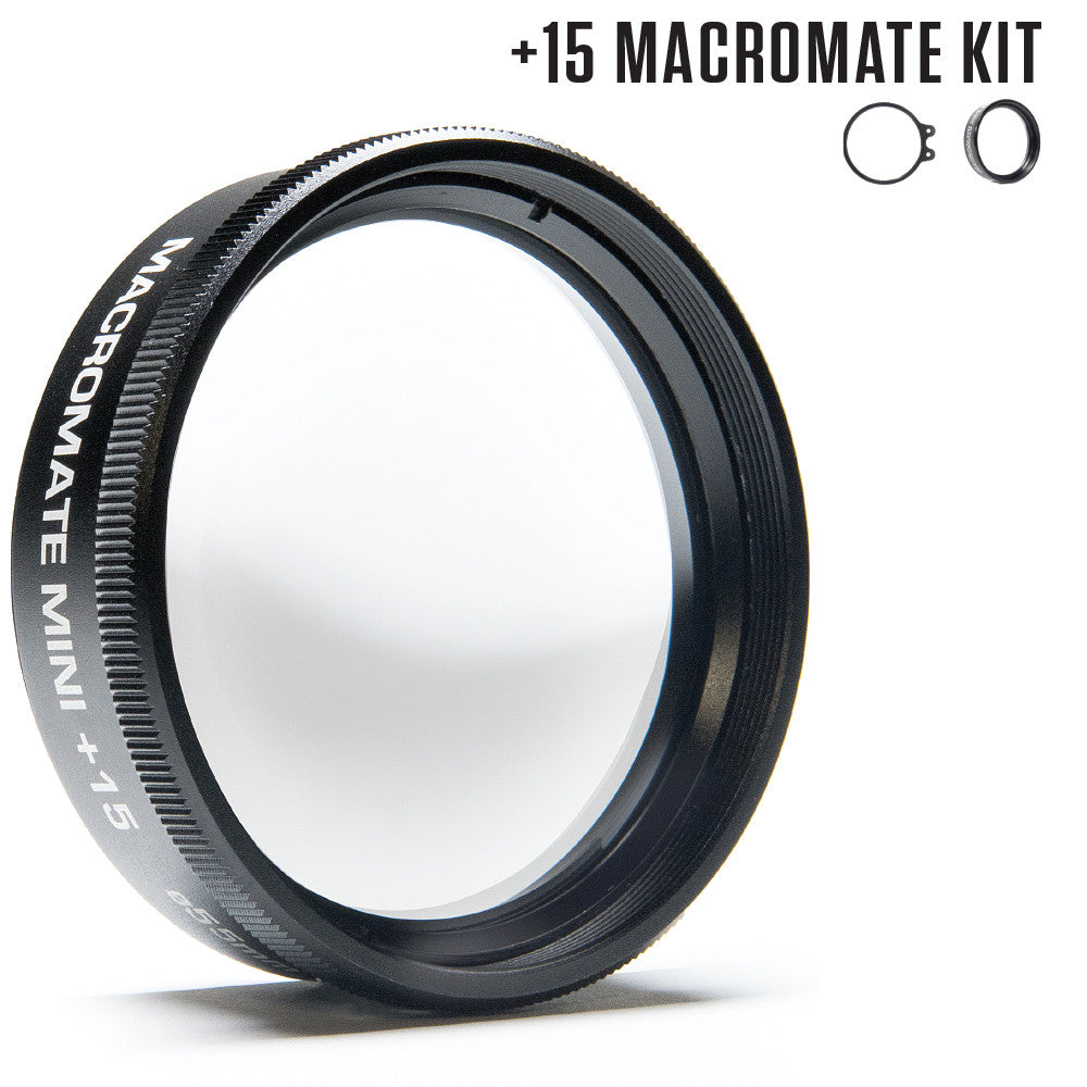 Flip4 Macromate Mini +15 UW Macro Lens Kit for GoPro