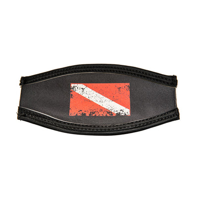 ISC EZ Mask Strap Faded Dive Flag