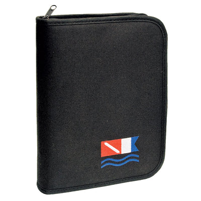 Marine Sports Log Book Binder Black with Dive Flags