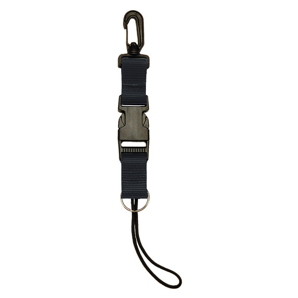 ISC Split Ring Lanyard Black