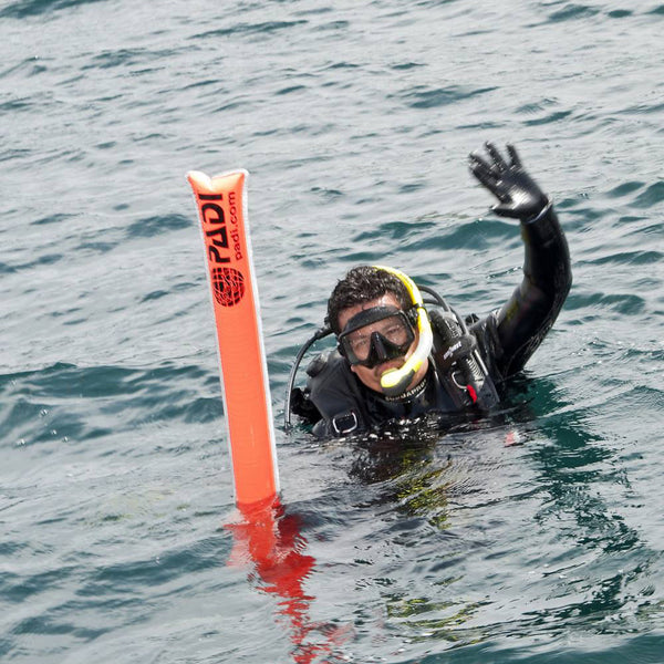 Padi surface signal marker tube scuba diving in miami for Dive tube