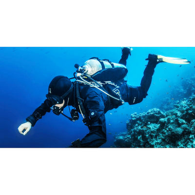 Diver wearing XDeep NX Ghost Standard Full BCD