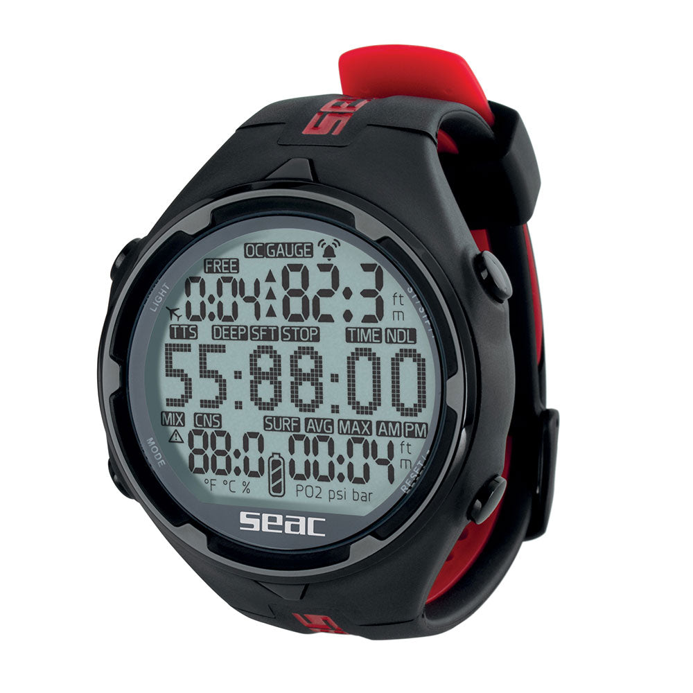 Seac Action HR Wrist Dive Computer Black/Red