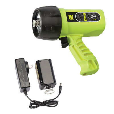 UK C8 eLED Rechargeable Dive Light Yellow