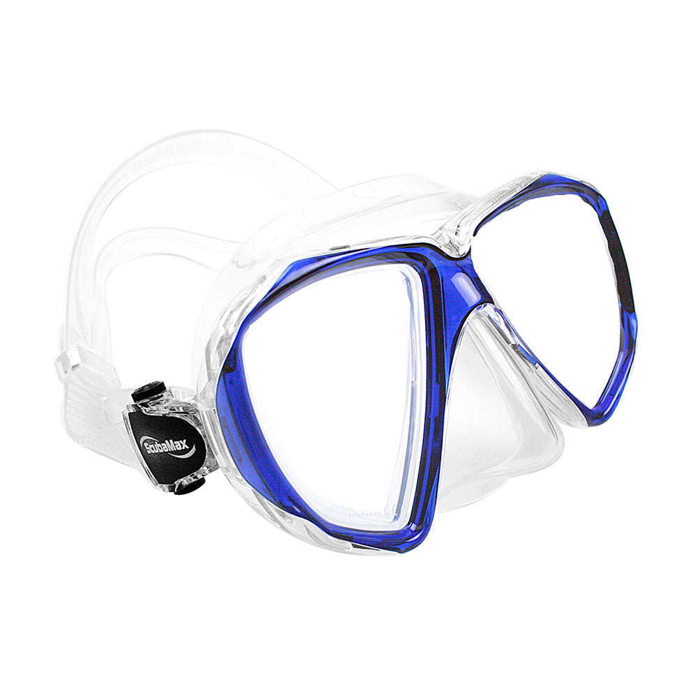 ScubaMax Spider Eye Mask Blue