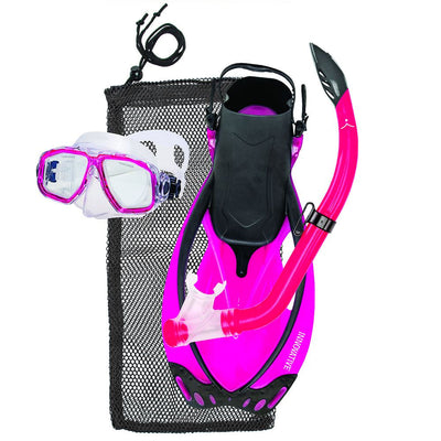 ISC Junior Mask Snorkel Fins Set Pink