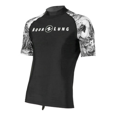 Aqua Lung Rash Guard Athletic Cut Short Sleeve Men