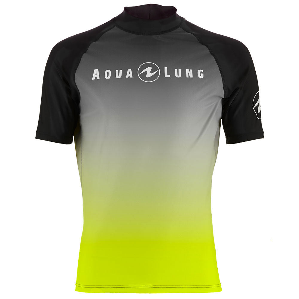 Aqua Lung Short Sleeve Rashguard Men Black/Lime