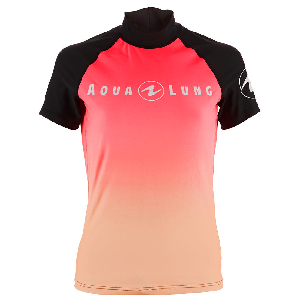 Aqua Lung Short Sleeve Rashguard Women Black/Pink