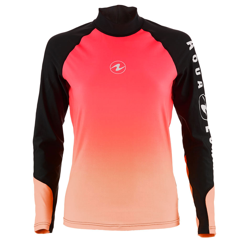 Aqua Lung Long Sleeve Rashguard Women Black/Pink