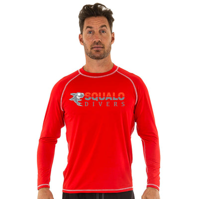 Uzzi Long Sleeve Unisex Rashguard Red