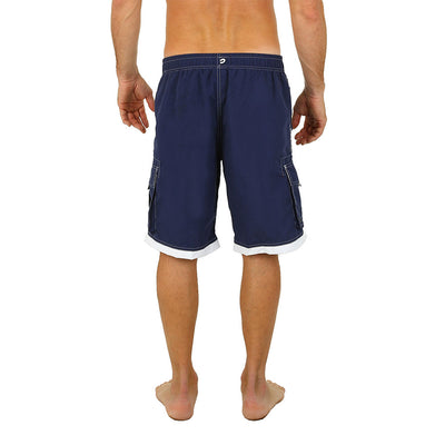 Uzzi Long Cargo Swim Shorts