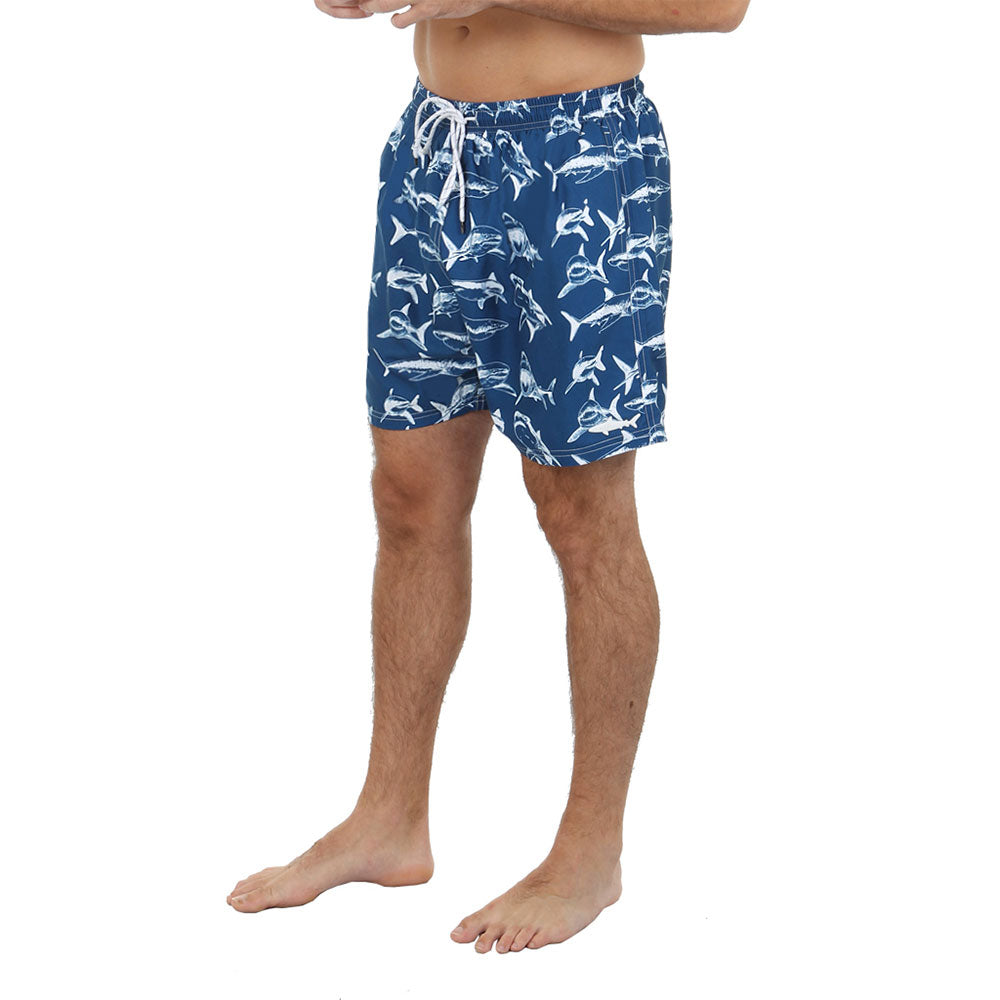 Uzzi Shark Swim Shorts Blue
