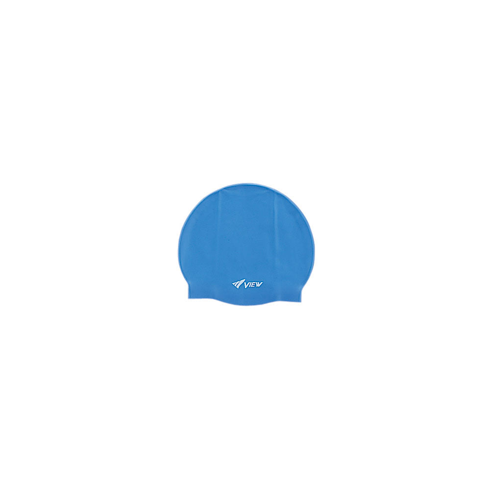 View Silicone Swim Cap Blue